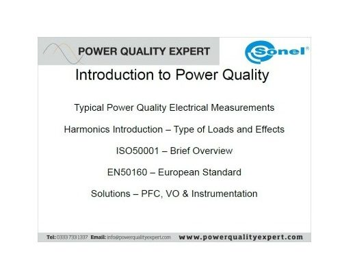 Power Quality Training Day Hosted by Alpha Electronics