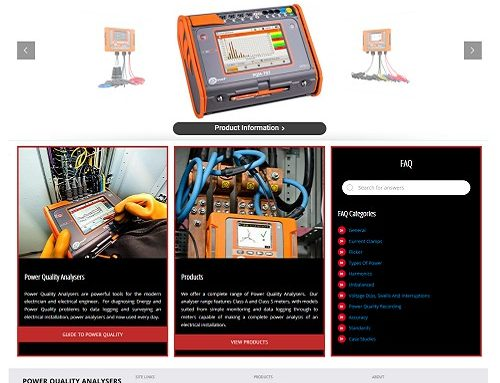 New Power Quality Analysers Website