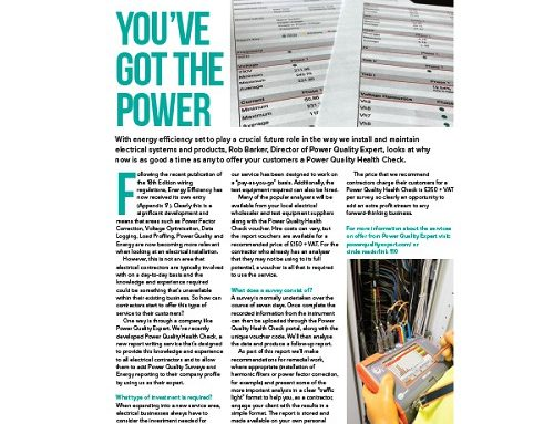 You've Got The Power – Professional Electrician