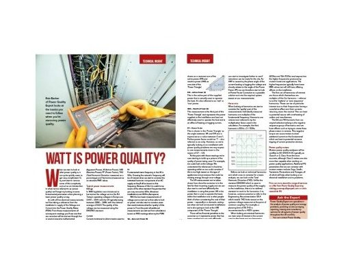Professional Electrician Power Quality Technical Article